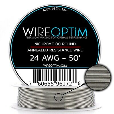 24 Gauge Awg Nichrome 80 Wire 50 Length - N80 Wire 24g Ga 0.51 Mm 50 Ft
