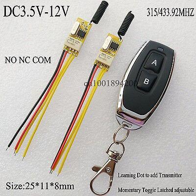 Mini Relay Contact Remote Switch No Com Nc 3 7V 4 2V 5V 6V 7 4V 9V 12V Ask Rx Tx