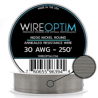 Wireoptim Annealed Ni200 Nickel 30 Gauge Awg 250 Non Resistance Wire