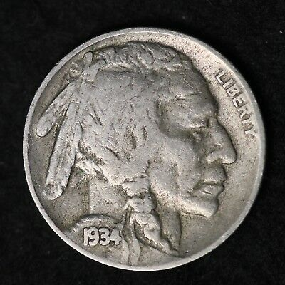 1934-D Buffalo Nickel G / VG FREE SHIPPING ()