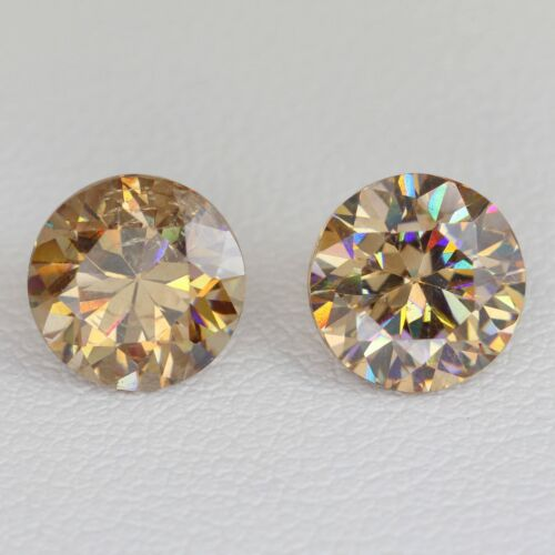 6.2ct pair Strontium Titanate Yellow With Inclusions Lab Created Loose Stone