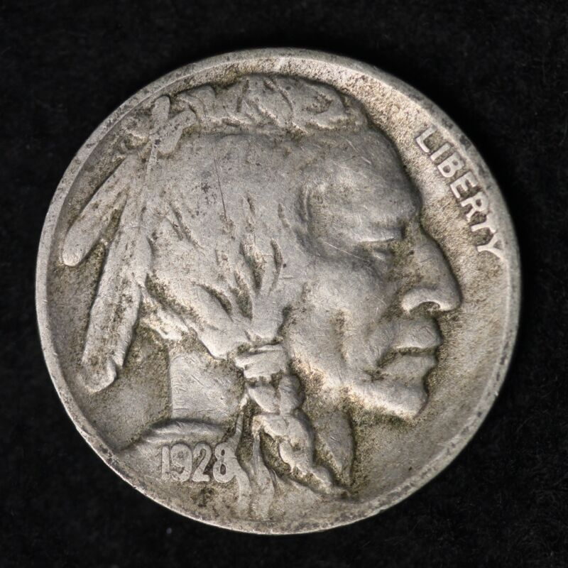 1928-D Buffalo Nickel G / VG FREE SHIPPING