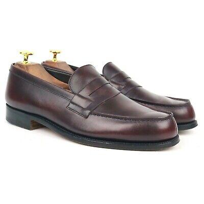 J.M. Weston '180 Mocassin' Burgundy Leather Loafers UK 7 D