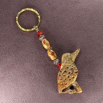 WOODPECKER TOTEM SOAPSTONE KEY CHAIN Flicker Charm Bird Magick Symbol Attraction