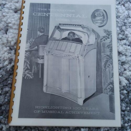 Wurlitzer Jukebox 1900 5207 Sales Brochure (AMR Deluxe Publication)