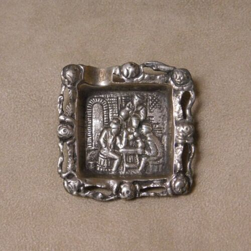 Men at the Pub Personal Size Sterling Silver Ashtray