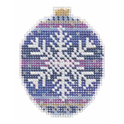 Royal Snowflake Cross Stitch Ornament Kit Mill Hill 2018 Bea