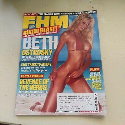 FHM Magazine Aug 2004 Beth Ostrosky Annual Swimsuit Bikini Blast