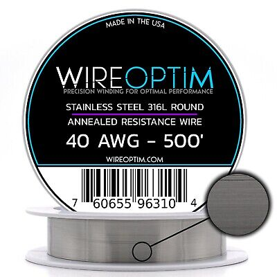 Ss 316l - 40 Awg Stainless Steel Wire 316l 0.0799mm - 500