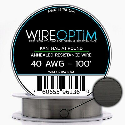 40 Gauge Awg Kanthal A1 Wire 100 Length - Ka1 Wire 40g Ga 0.08 Mm 100 Ft