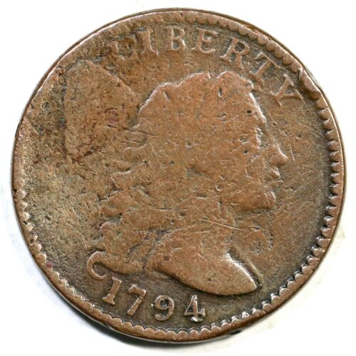1794 S-67 R-3 Head of 95 Liberty Cap Large Cent Coin 1c
