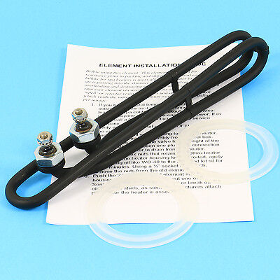 """Spa Heater Element COATED Hot Tub Heating Coil 4kw SIDE Terminals 9.8"""""""