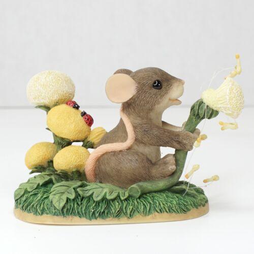 Charming Tails 89/107 Dandelion Dreams Mouse Flowers Blowing Summertime