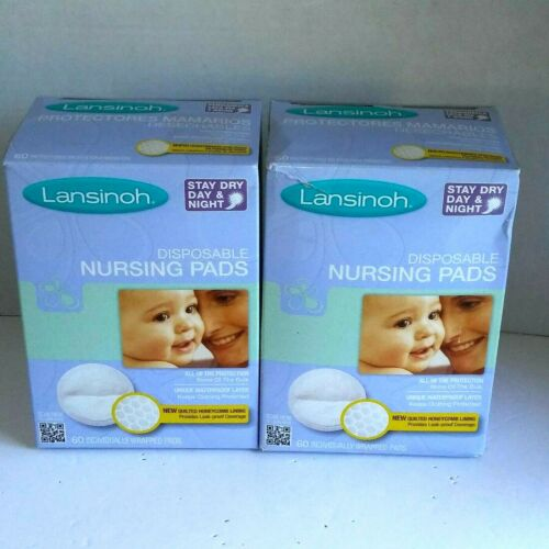Lansinoh Stay Dry Disposable Nursing Pads 120 Pads Total