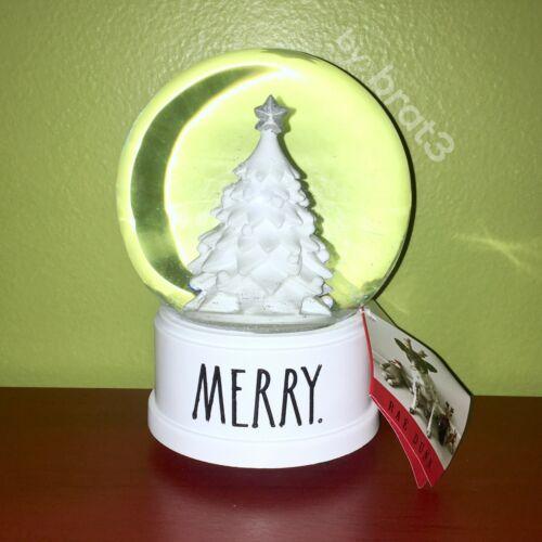"New RAE DUNN Holiday LL ""MERRY"" Christmas Tree Snow Globe"