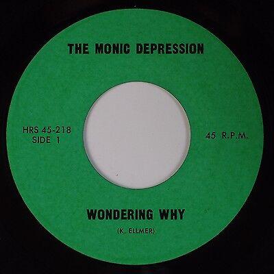 THE MONIC DEPRESSION: Wondering Why '67 Psych Garage MONSTER Unknown 45 Hear