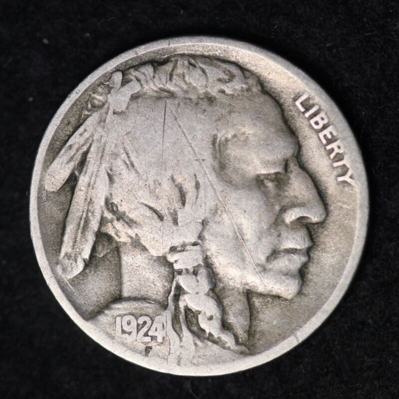 1924-D Buffalo Nickel G / VG FREE SHIPPING