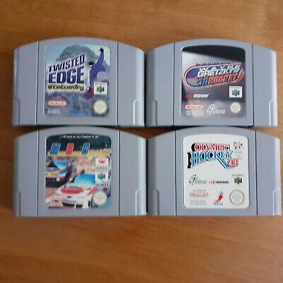 Twisted Edge Snowboarding Racing Hockey N64 Nintendo 64 Loose Cartridges x 4 PAL
