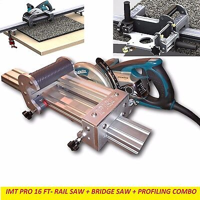 Imt Pro Wet Makita Motor Rail Bridge Saw Edge Profile For Granite-16 Ft Rail