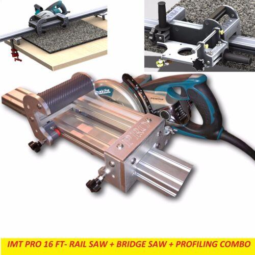 IMT PRO Wet Makita Motor Rail + Bridge Saw + EDGE Profile for Granite-16 Ft Rail