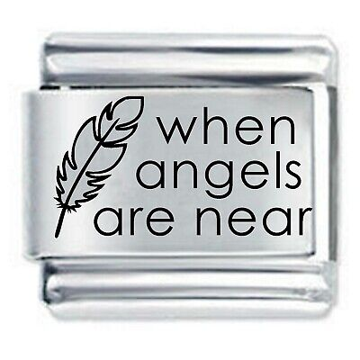 WHEN ANGELS FEATHERS  * Daisy Charms Fits Nomination Classic Italian Bracelet