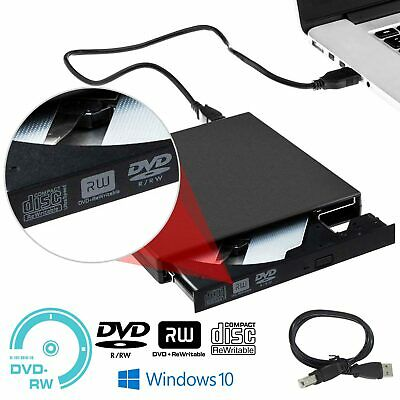 USB 2.0 DVD externo CD RW Grabador de disco Lector de unidad Windows 10 Laptops