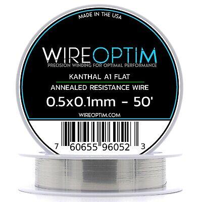 0.5 X 0.1 Mm Kanthal A1 Ribbon Flat Resistance Wire 50 - 50 Ft