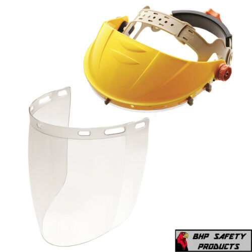 Full Face Safety Shield Flip Up Tool Mask Clear Glasses Eye Protection Grinding