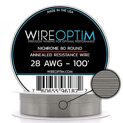 28 Gauge Awg Nichrome 80 Wire 100 Length - N80 Wire 28g Ga 0.32 Mm 100 Ft