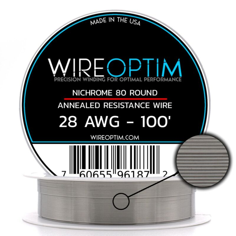 28 Gauge AWG Nichrome 80 Wire 100
