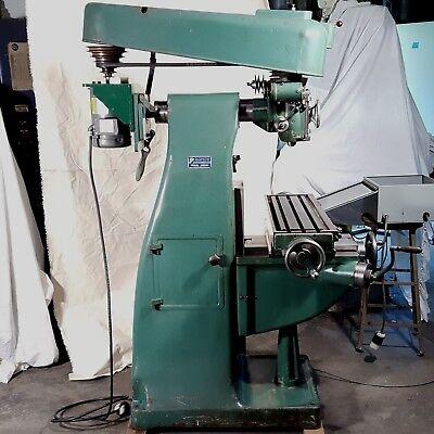 Us Burke Vertical Milling Machine Manual 1hp W Vfd 240v 1ph 44 To 3000 Rpm