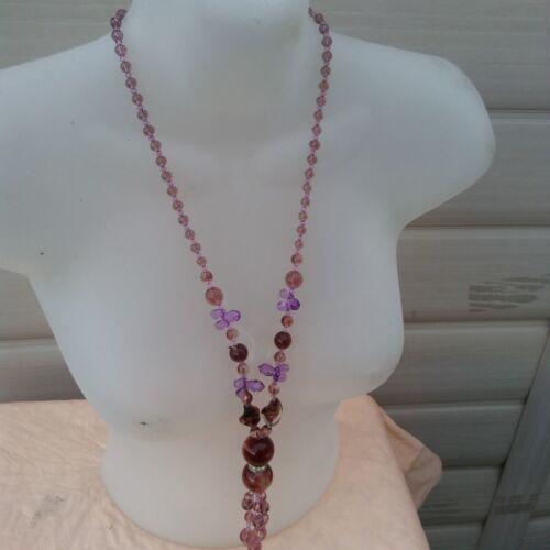 Color Crystal Necklace  水晶  石 项链