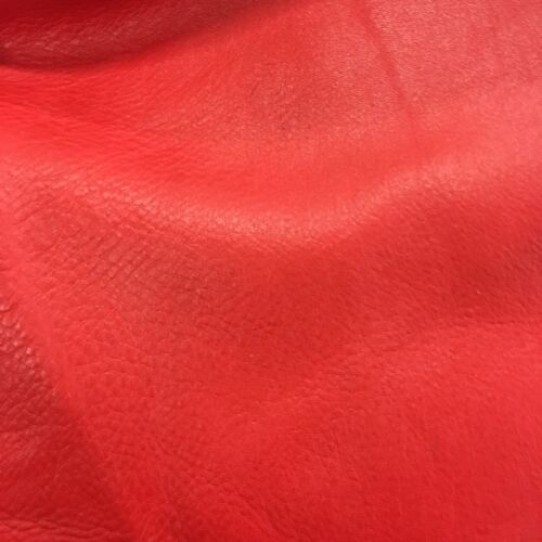 "Red 12""x24"" Cowhide Leather Craft Panel- Frogjelly Leather"