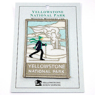 Official Yellowstone National Park Souvenir Patch Winter Ski Snow Wyoming