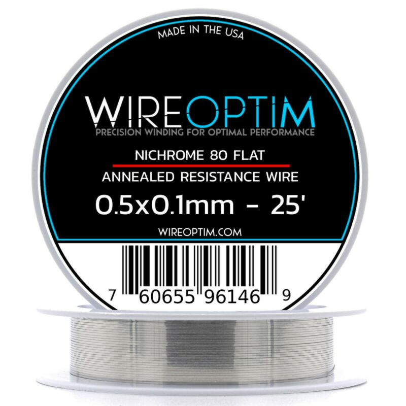 0.5 x 0.1 mm Nichrome 80 Flat Ribbon Resistance Wire - 25