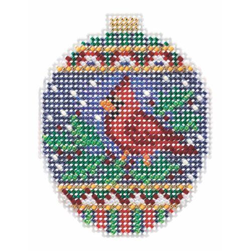 Crimson Cardinal Cross Stitch Ornament Kit Mill Hill 2018 Be
