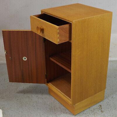 Bedside Cabinet Retro Oak Meredew