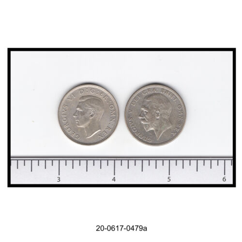 Lot of Two Great Britain Silver Florin (two Shilling Coins)