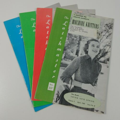 The Latchmaster Magazine for Automatic Machine Knitters 1960s Sweaters Lot #4