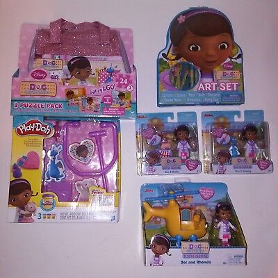 Toys Helicopter Puzzles Figurines Playdoh Art Gift Set   (Doc Mcstuffins Play-doh)