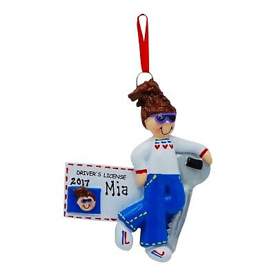 PERSONALIZED Teen Girl Driver License Christmas Tree Ornament 2019 Holiday Gift ()