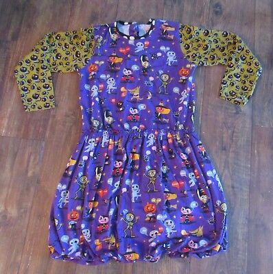 Jelly the Pug Halloween Maggie Dress Tunic Girls 12 Monster Bash Collection (Pug Halloween)