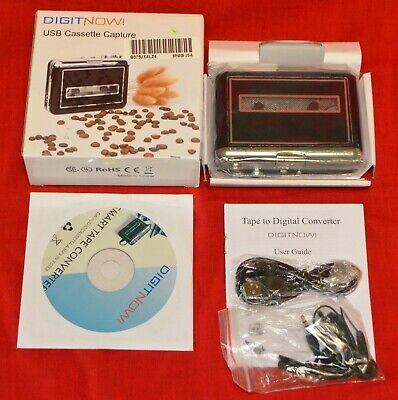 DIGIT NOW! USB CASSETTE TAPE CAPTURE CONVERTER TO MP3 DIGITAL NEW IN OPEN BOX for sale  Shipping to India