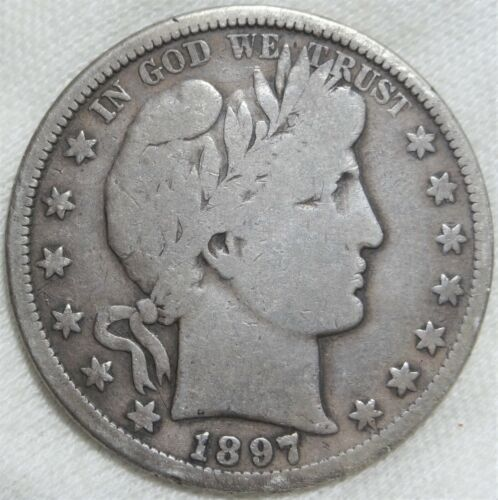 1897-S Barber Half Dollar Good G+ San Francisco Mint Silver 50c Better Date Coin