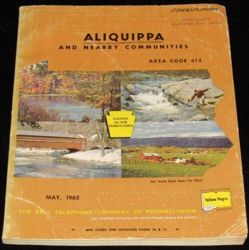 1965 PENNSYLVANIA TELEPHONE DIRECTORY, ALIQUIPPA & NEARBY COMMUNITIES