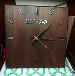 70's Vintage Bulova Electric Wooden Wall Clock - Works