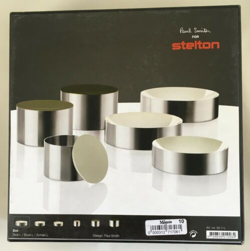 Paul Smith for STELTON - Large Dot Bowl with beige enamel