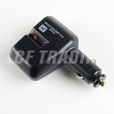 Napolex Fizz-593 12V Auto Phone Charger / Splitter with LED Indicator Light