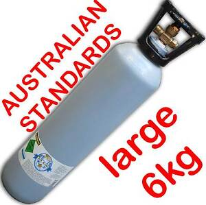 Australian Standard Carbon Dioxide CO2 Gas Bottle Cylinder 9.1Litres 6kg FULL