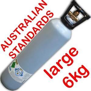 Australian Standard Carbon Dioxide CO2 Gas Bottle Cylinder 9.1Litres 6kg FULL